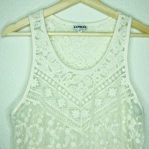 Express Tops - Express Women's Medium Sleeveless Floral Lace Top